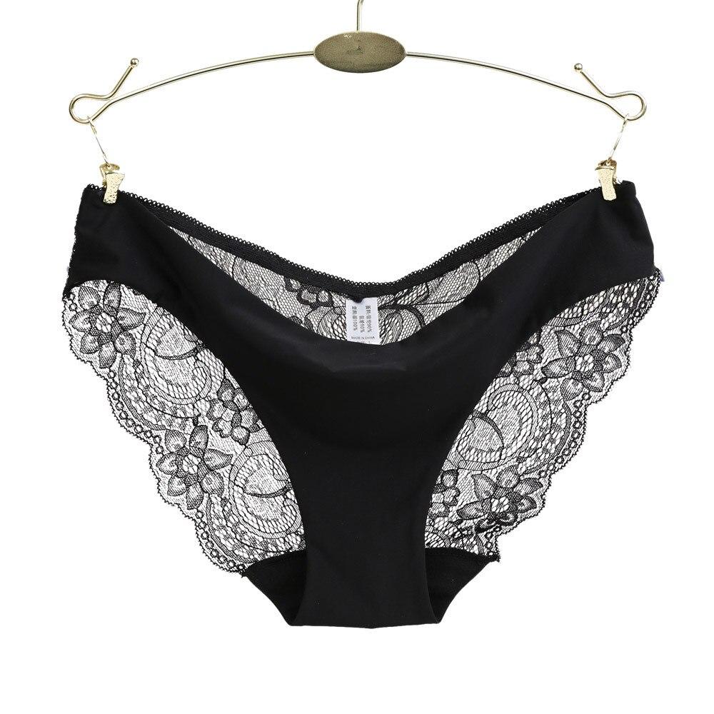 Ladies underwear woman panties lace sexy panties for women lingerie traceless crotch of cotton transparent briefs