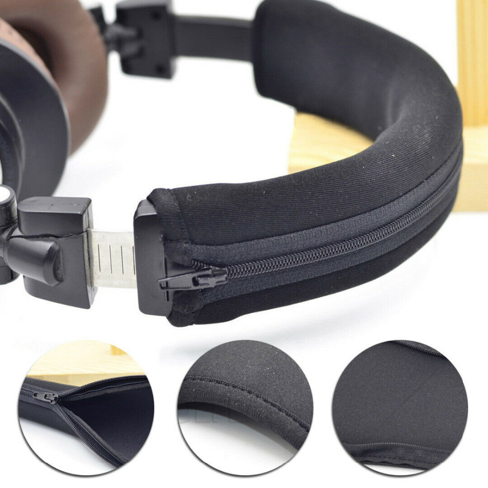 Headphone Protector Zipper Headband For Audio Technica ATH MSR7 M20 M30 M40 M40X M50X SX1 Headphones