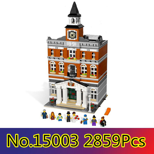 CX 15003 2859Pcs Model building kits Compatible with Lego 10224 City Street The Town Hall 3D Bricks figure toys for children cx 15008 2462pcs model building kits compatible with lego 10185 city street green grocer 3d bricks figure toys for children