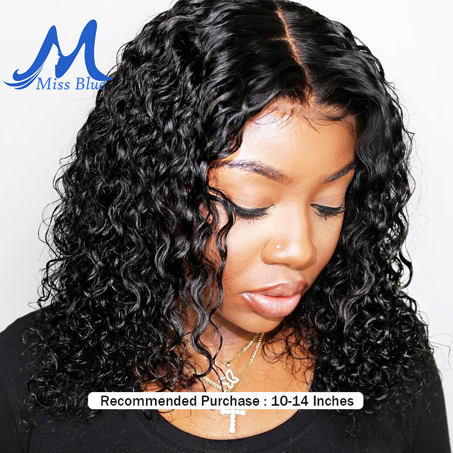 Short Curly Lace Front Human Hair Wigs For Black Women Brazilian Remy Hair Lace Frontal BOB
