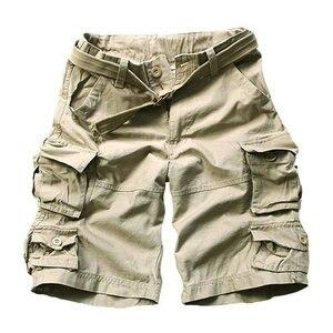 Image 3 - 2020 sommer Mode Militär Cargo Shorts Männer Hohe Qualität Baumwolle Casual Herren Shorts Multi tasche (Freies Gürtel)