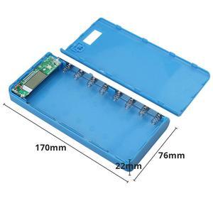 Image 5 - New DIY 8x18650 Portable Battery Power Bank Shell Case Box LCD Display Dual USB Powerbank Box KIT Powerbank 18650(No Battery)