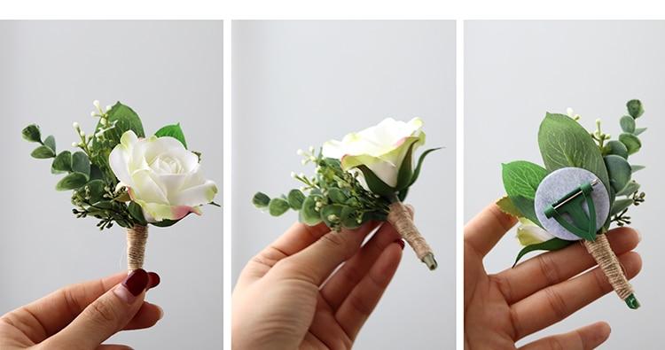 wedding Wrist corsages bracelet  boutonnieres flowers (9)