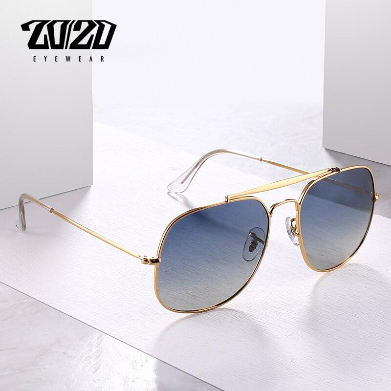 20/20 Marke Neue Vintage Männer Sonnenbrille Unisex Polarisierte Platz Brillen Sonnenbrille Für Frauen Oculos 17009 QualitäT Zuerst