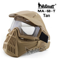 WoSporT Tactical Mask Riding Visor Full Face Protection Impact Resistant Pc Lens Mask Outdoor Airsoft Hunting