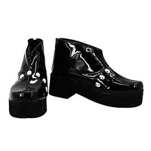 One Piece Brook Black PU Leather Cosplay Pantshoes