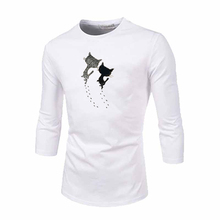 Cute Patches for Clothes Two Cats with Trails