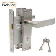 Probrico дверной врезной замок Противоугонная дверная ручка наружный межкомнатный дверной замок s цинковый сплав европейская безопасность дверной замок и оборудование