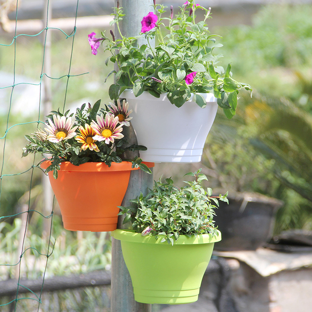 Large Size For 3 Terracotta Effect DRAIN PIPE FLOWER PLANT POTS Tubs Drain  Pipe Garden Planters