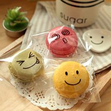90pcs/lot Kawaii Smiley face Transparent  Kraft Round Labels Stickers Handmade Paper Seal Adhesive Labe