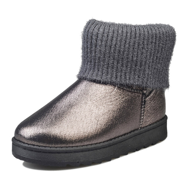 MCCKLE Female Warmer Plush Leather Rubber Winter Fashion Style Suede Slip On Ankle Snow Boots 2017 Woman Black Platform Shoes
