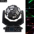 Upgrade 12x20w RGBW 4in1 LED Beam Light Extra 180pcs RGB 3in1 Football Moving Head Light DMX DJ/Fest/Home/Bar/Stage /Party Light