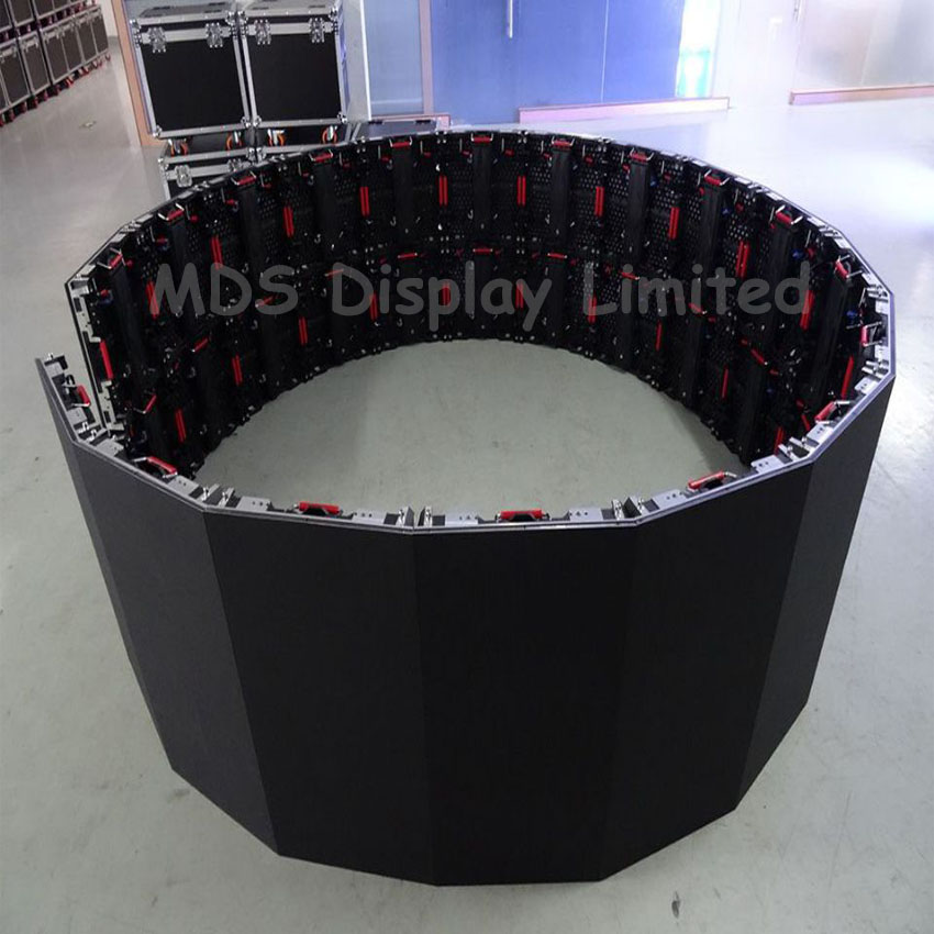 Curve Led Screen P3.91 Die-casting Aluminum Cabinet Indoor Full Color Led Display Screen For Rental Advertising