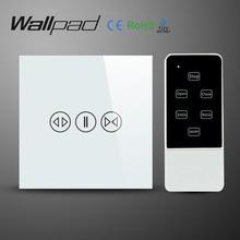 Адррес wallpad белый роскошный GALSS панель ЕС Великобритания дистанционного управления smart Electric Touch занавес настенный выключатель со светодиодным индикатором голубой подсветкой