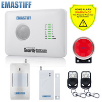 Free Shipping M2DX Wireless LCD Touch Keypad GSM PSTN Dual Home Burglar Security Alarm System 4