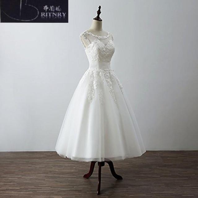 Aliexpress.com : Buy Quality Short Wedding Dress Scoop Neck A Line ...