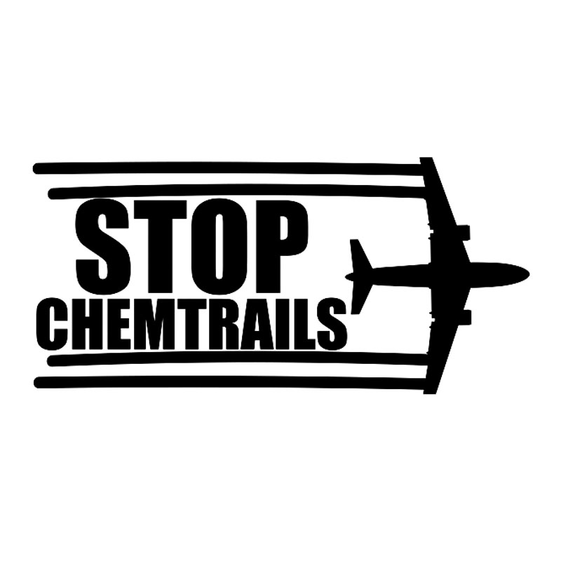 17 2 8 2CM Creative Stop Chemtrails Vinyl Car Sticker Decal Black Cool Exterior Accessories Side Decoration Emblem Window Badge in Car Stickers from Automobiles Motorcycles