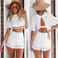 2016 new fashion summer printing Women's Sets halter sexy short T-shirt and shorts SY247