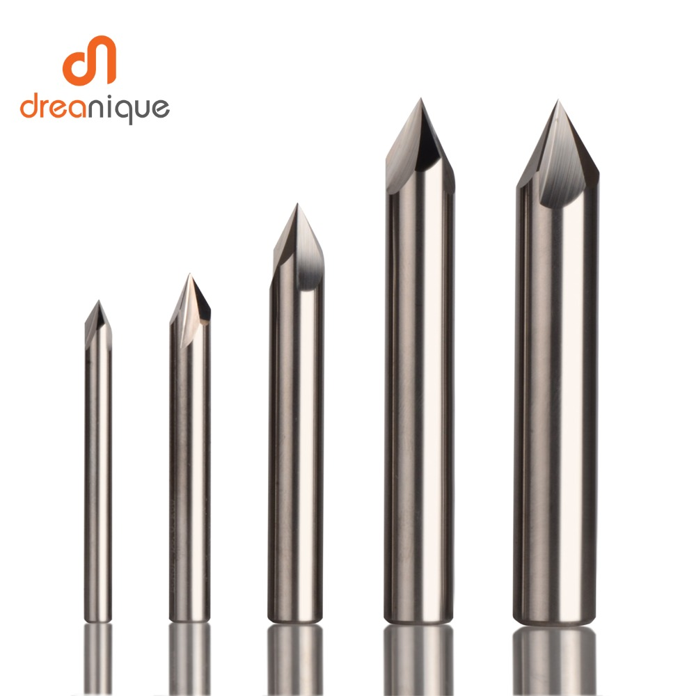 CNC tungsten carbide Countersink Drill Bit Chamfer milling cutter for aluminium Copper,<font><b>60</b></font> <font><b>90</b></font> <font><b>120</b></font> degree deburring end mill image