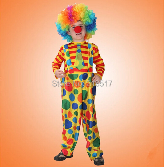 Children Kids Naughty Clown dress Circus Costumes cosplay performance clothes Clown suit for Halloween Party 110 & Children Kids Naughty Clown dress Circus Costumes cosplay ...