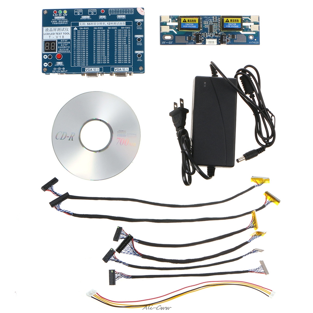 Laptop TV LCD LED Test Tool Panel Tester Support 7 84 Inch LVDS 6 Screen Line