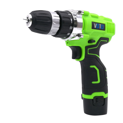 VOTO V6 Battery Rechargeable Cordless Drill Electric Screwdriver Set Lithium Power Tools Screw Gun Driver 12 16.8 21V Green 2018 voto v6 battery rechargeable cordless drill electric screwdriver set lithium power tools screw gun driver 12v 16 8v 21v pink