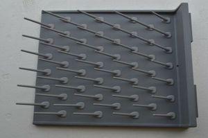 Image 5 - Nuevo estante de secado de escritorio de pared para laboratorio, 52 clavijas de Ciencia, Educación limpia y uso en laboratorio, Color gris