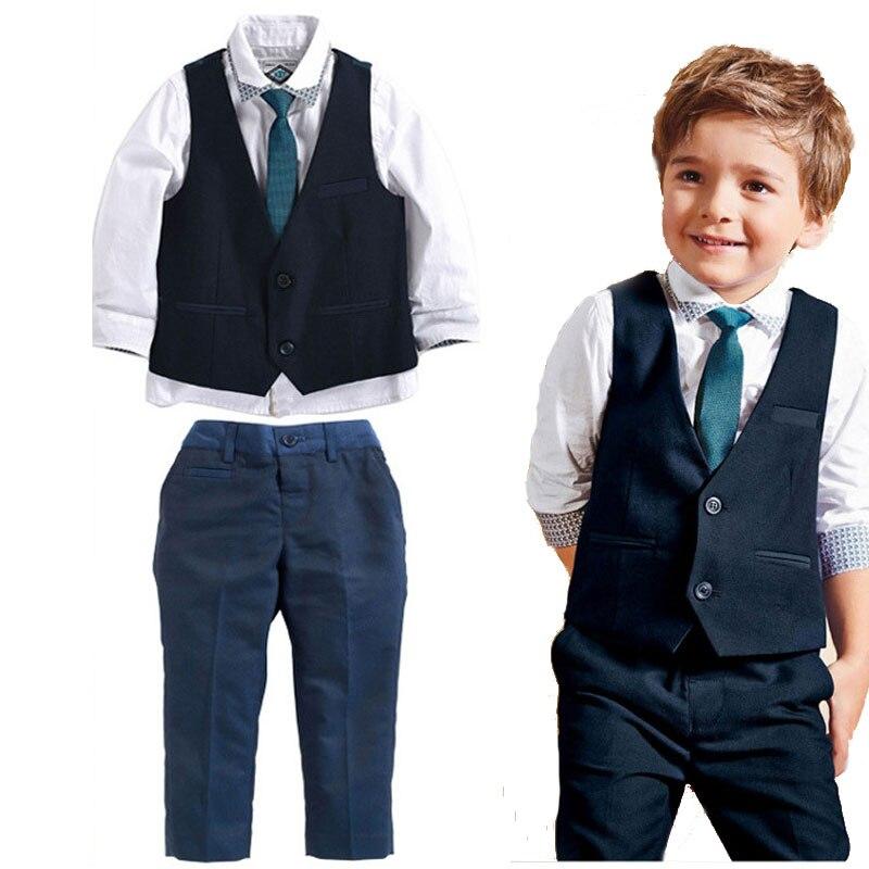 Top kids boys sets baby boy Party Gentleman clothing Shirt ...