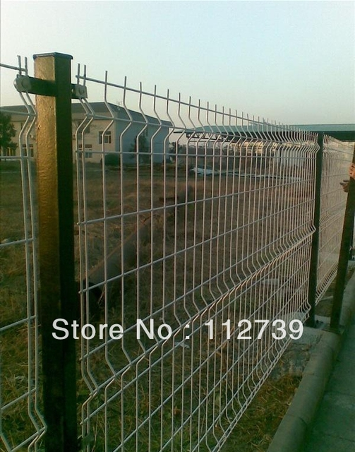 Rectangle Post 50*50*1.5mm, Wire Mesh Fence, Double Wire And ...