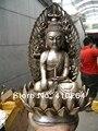 20 cm Lotus Buddha und Vier Diamant silber Statuen|silver epaulettes|statue mouldssilver tractor -