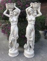 180 см Большой размер европейский характер сад скульптур home decor тела людей статус polyresin человеческая фигурка статуи ремесел