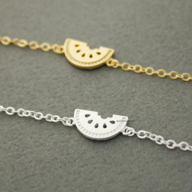 Bien connu Cute stainless steel bracelet gold silver plated fruit watermelon  JP51