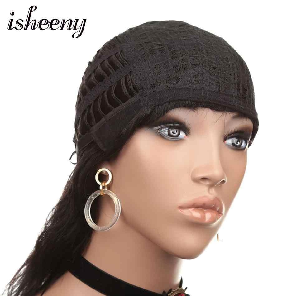 Isheeny 12 дюймов натуральные волнистые индийские волосы Remy парики средняя часть Регулируемый ошейник для собак крышка 120 г