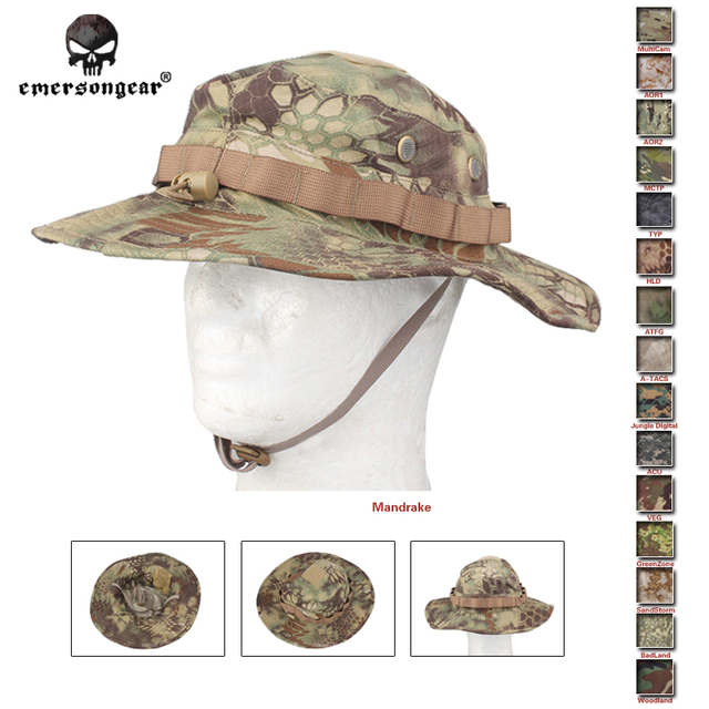 fe6d3d1d551 Emersongear Boonie Hat Military Tactical Army Adjustable Anti-scrape  Airsoft Combat Gear Camouflage Multicam Woodland Headware