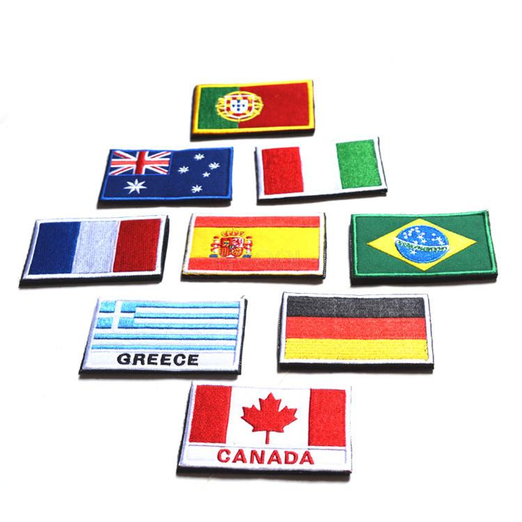 Apparel Sewing & Fabric Badges Energetic Embroidered Country Flag Badge 3d Tactical Badges Fabric Cloth Combat Armband Badges