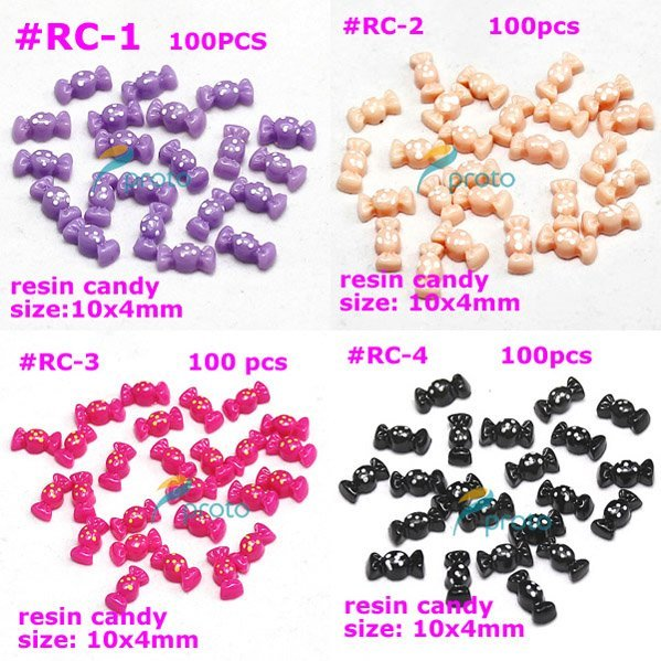 Freeshipping-100X Lovely Resin Candy 3D Nail Art Decoration Fashion Nail Art wholesale SKU:D0101X