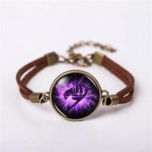 Fairy Tail Guild Marks Purple Wing Bracelet Bangle