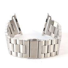 38mm 42mm correa de acero inoxidable reloj banda de metal sólido para apple watch band cadena de reloj