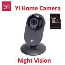 [ЕС] Xiaoyi YI Домой Ip-камера С 32 Г SD Card HD 720 P смарт Wi-Fi Камера Ночного Видения Motion Обнаружения Видео Монитор IP-черный