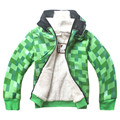 Осень Зима детские Случайные Куртки мальчика Кашемира Длинным Рукавом Hoodeds Пальто Зеленый сетки Детская Одежда Толстый теплый Свитер