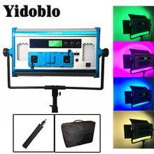 프로 APP 제어 RGB LED 램프 사진 연속 조명 DMX 호환 사진 스튜디오 비디오 필름 라이트 + 삼각대 + 핸드백