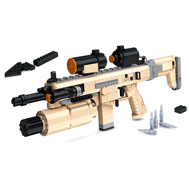 Ausini Assault Rifle CZ805 Gun Model Toys Building Blocks Sets Educational DIY Assemblage Brick Toy Compatible With Legoe 767PCS