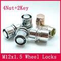 4 гайки + 2 ключи M12x1.5 Сплава шайба Гайка Колеса Замки ANTI-SHEFT ГАЙКУ колеса/диски toyota Corolla/Rav4/Crown/Pardo/Reiz