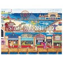 Full 5D Diy Diamond Painting Cross-Switch Ocean Park Beach Summer Embroidery Square Rhinestones Paintings Mosaic Decor