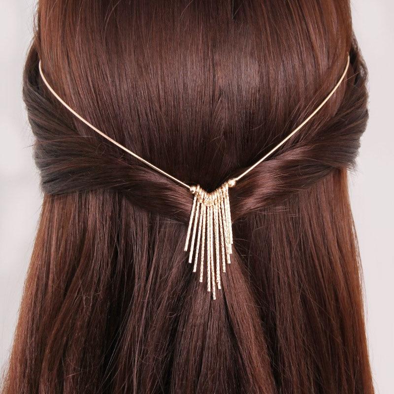 Hot Sale 9 Patterns High Quality Korean Headband Crystal Pearl Back Holder Women Hair Bands Headwear