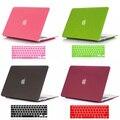 Quicksand mate cubierta del estuche rígido + teclado de piel para Macbook Air Pro 11 12 13 15 '' pulgadas libera el envío