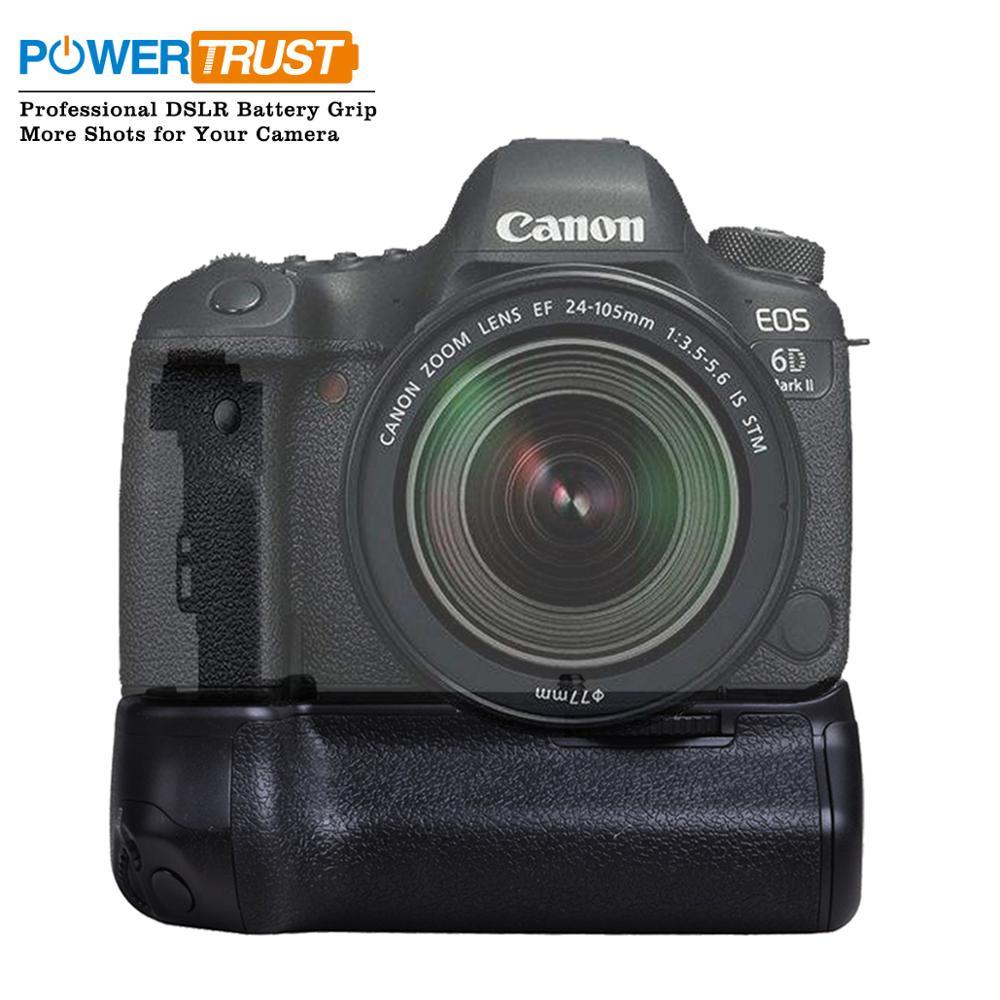 PowerTrust BG-E21 Batterie support de prise en main pour Canon 6D Mark II 6D2 DSLR Caméra avec LP-E6/LP-E6N Batterie