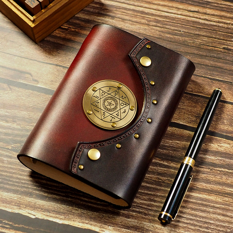 A7 A6 Genuine Leather Notebook Travelers Journal Agenda Handmade Planner Notebooks Vintage Diary Magician Book