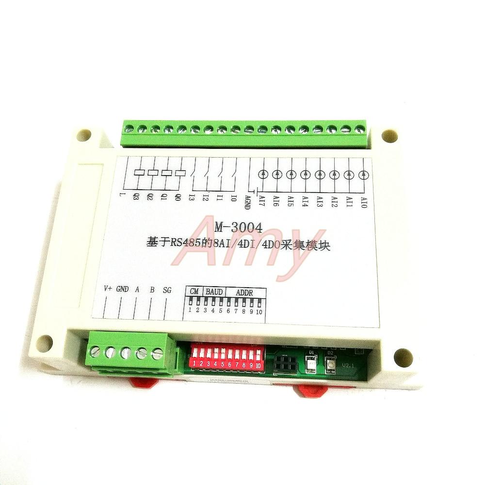 RS485 data acquisition module 8AI/4DI/4DO Modbus RTUcommunication
