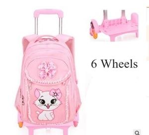 Image 4 - Plecak szkolny na kółkach plecak dla dziewczynek plecak na kółkach torba na kółkach dla dzieci plecak szkolny dla dzieci na kółkach torby na kółkach